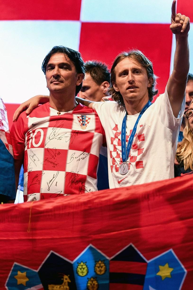 Rok 2018, Chorwaci wicemistrzami świata. Selekcjoner Zlatko Dalić i Luka Modrić /AFP