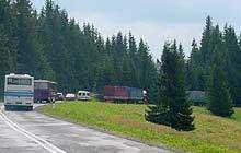 Rokrocznie przejście graniczne na Łysej Polanie przekracza 20 tys. TIR-ów /RMF