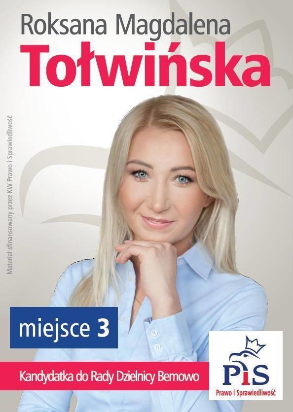 Roksana Tołwińska kandydowała w wyborach samorządowych w 2014 roku. /