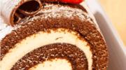 Rolada czekoladowa z kremem śmietanowym