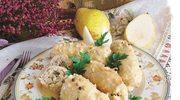 Roladki schabowe  z gruszką i serem