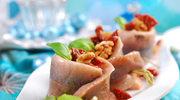 Roladki śledziowe z suszonymi pomidorami