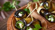 Roladki z bakłażana z serem feta