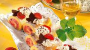 Roladki z kremem truskawkowym