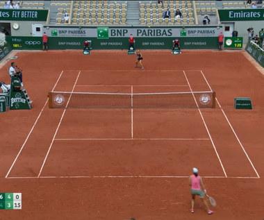 Roland Garros. Iga Świątek przegrywa z Marią Sakkari. WIDEO