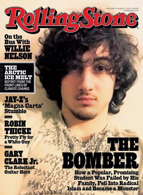 """""""Rolling Stone"""" zdecydował się zamieścić na okładce twarz Dżochara Carnajewa /Okładka """"Rolling Stone"""" /"""
