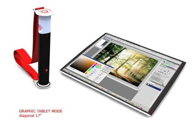Rolltop - prototyp tabletu/notebooka zwijanego w rulon /materiały prasowe