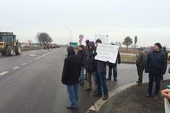 "Rolnicy protestują na starej ""17"""