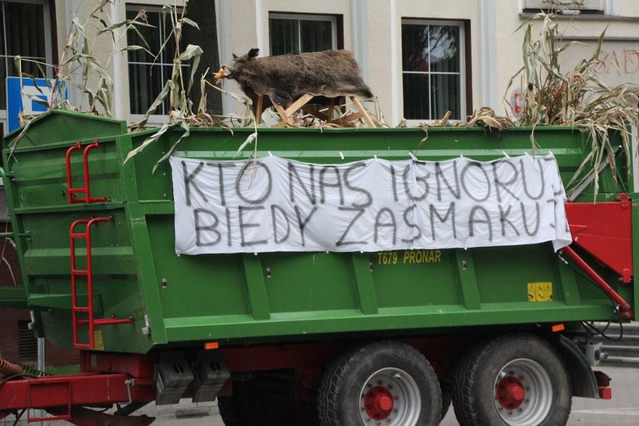 Rolnicy protestują w Białymstoku /Piotr Bułakowski /RMF FM