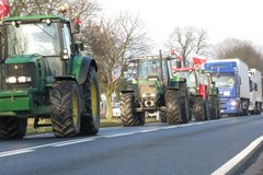 Rolnicy sparaliżowali ruch drogowy na Pomorzu