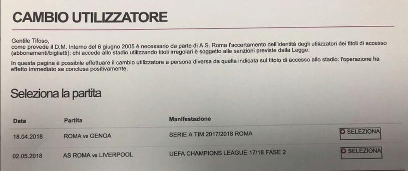 Roma sprzedawała bilety na mecz z Liverpoolem jeszcze przed losowaniem /