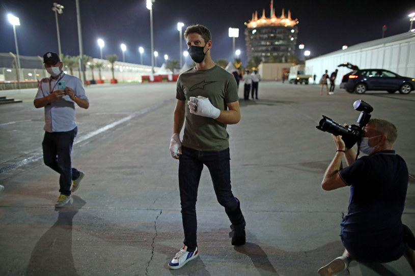 Romain Grosjean na torze w Sakhir 3 grudnia /PAP/EPA