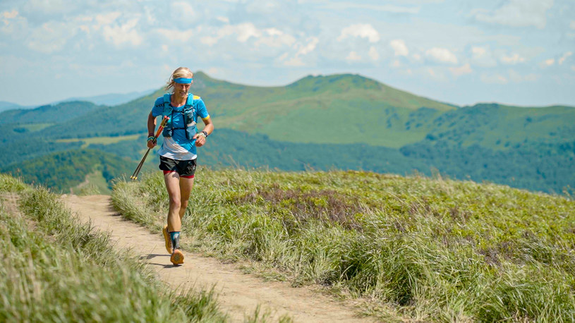 Roman Ficek na trasie wyzwania bicia rekordu GSB/ Źródło: Facebook /Szczytografia /