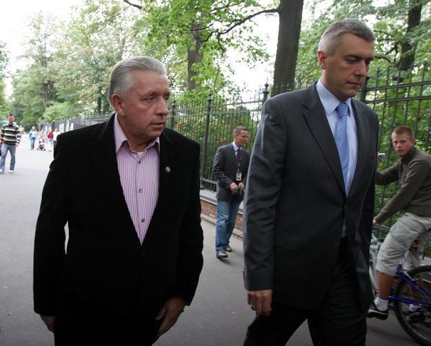 Roman Giertych i Andrzej Lepper, fot. J. Wajszczak /Reporter