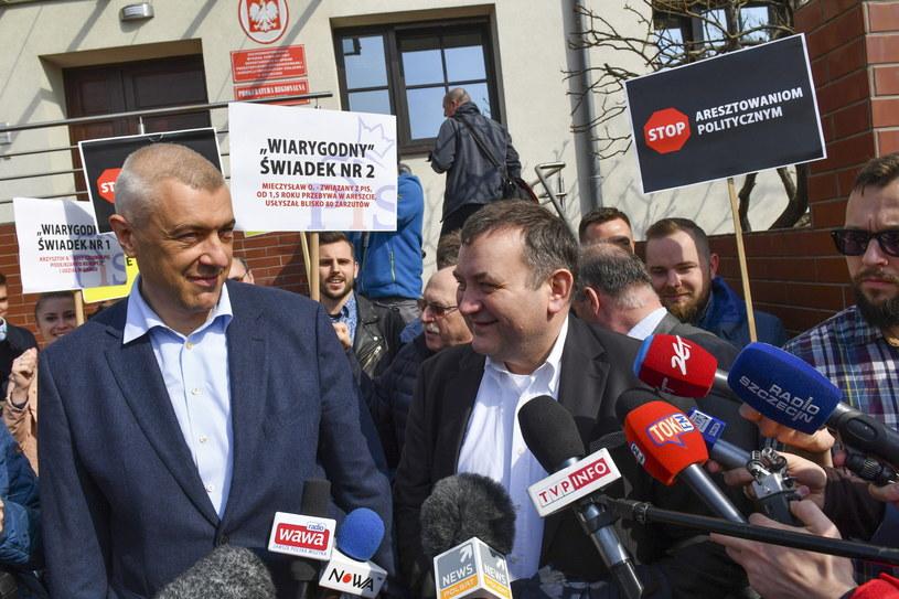 Roman Giertych i Stanisław Gawłowski /Marcin Bielecki /PAP