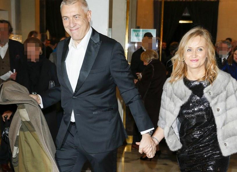 """Roman Giertych z żoną na premierze spektaklu """"Halka"""" /Baranowski /AKPA"""
