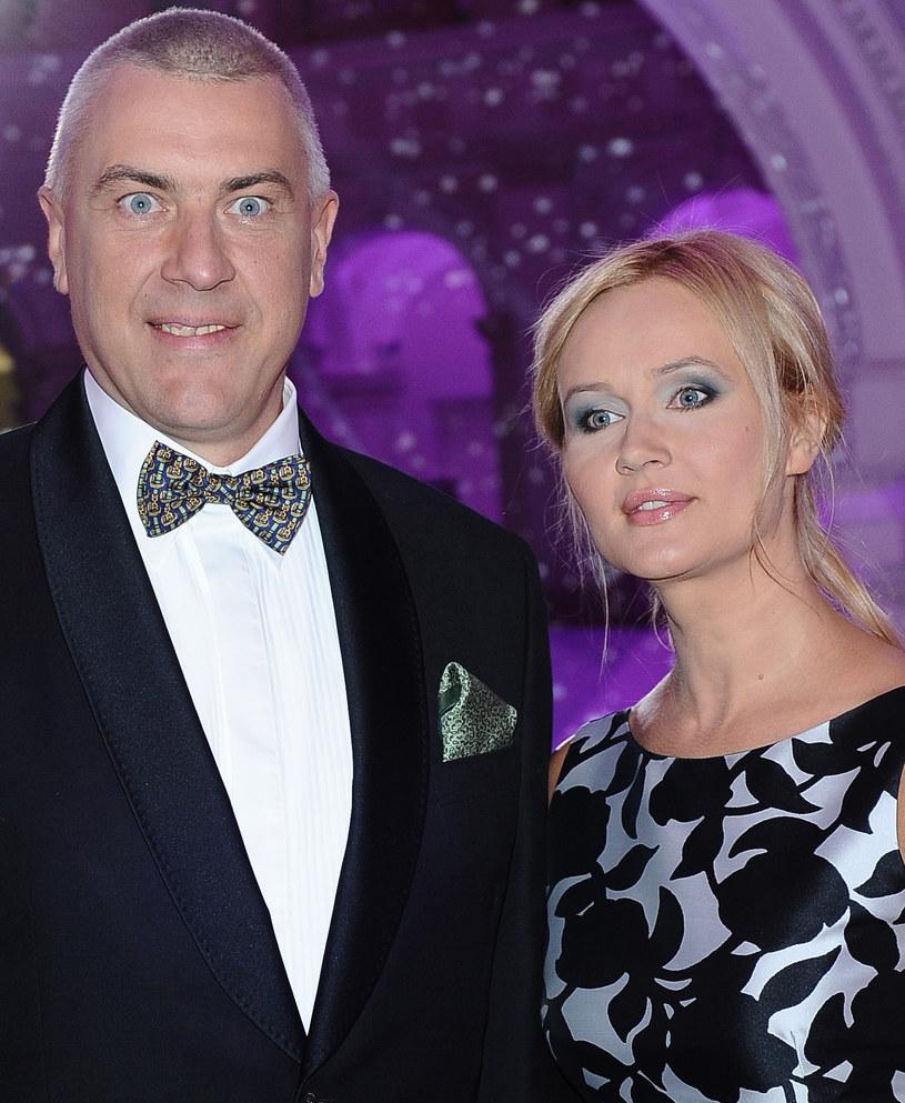 Roman Giertych z żoną /Andras Szilagyi /MWMedia