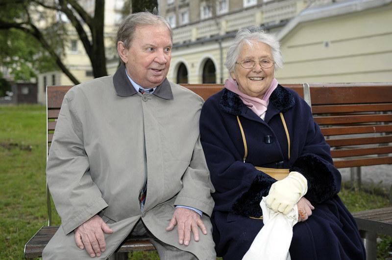 Roman Kłosowski z żoną Krystyną. /Gałązka /AKPA