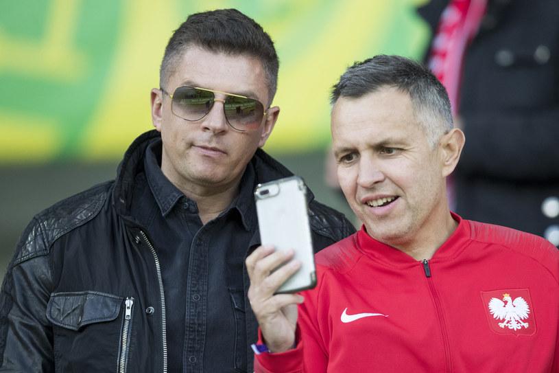 Roman Kołtoń (z prawej) w towarzystwie Mateusza Borka /Andrzej Iwańczuk /Reporter