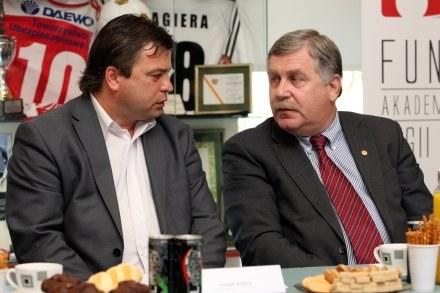 Roman Kosecki i Jerzy Engel Fot. Piotr Kucza /Agencja Przegląd Sportowy