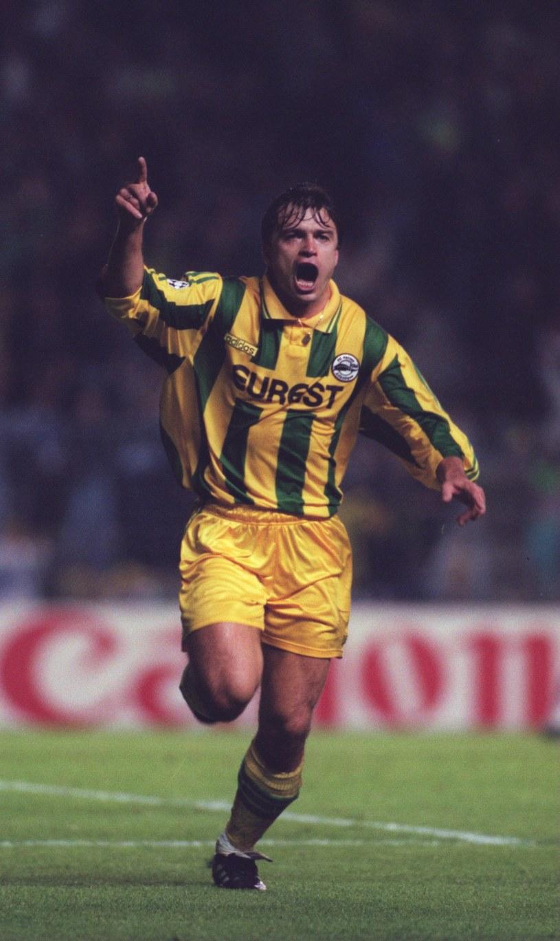 Roman Kosecki w barwach Nantes /Gary M. Prior /Getty Images