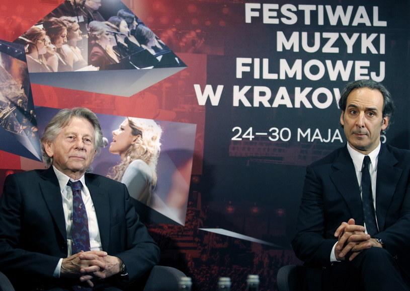 Roman Polański (L) i Alexandre Desplat (P) współpracowali przy trzech filmach /Andrzej Grygiel /PAP