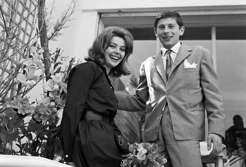 Roman Polański z żoną Barbara Kwiatkowską w Cannes /HUFFSCHMITT/SIPA /East News