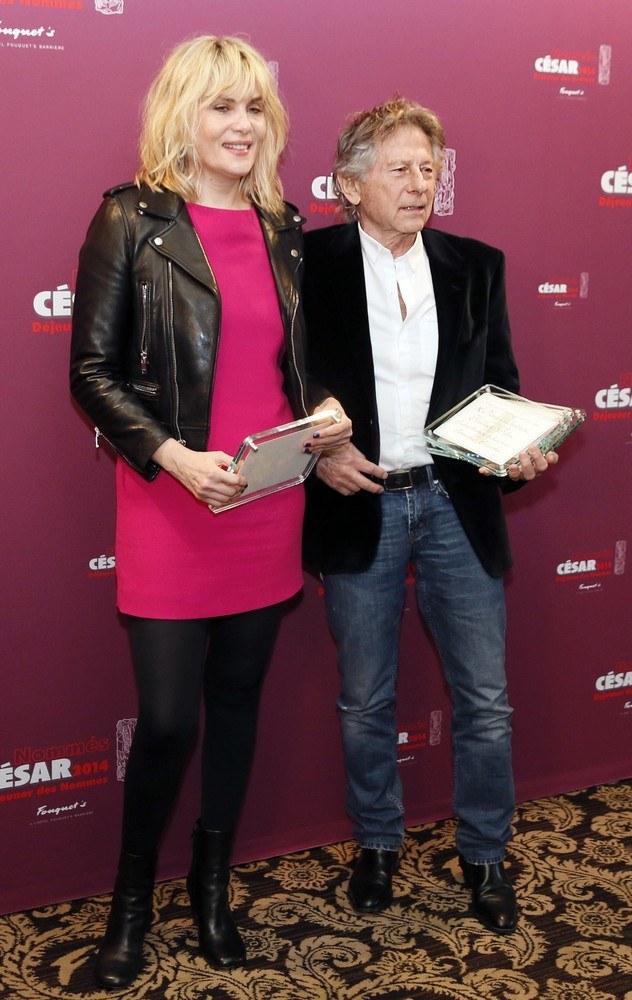 Roman Polański z żoną Emmanuelle Seigner /East News