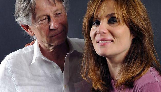 Roman Polański z żoną Emmanuelle Seigner /AFP