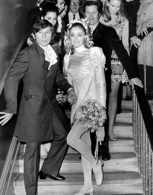 Roman Polański z żoną Sharon Tate w 1968 roku /AFP