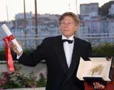 Roman Polański ze Złotą Palmą w Cannes /EPA