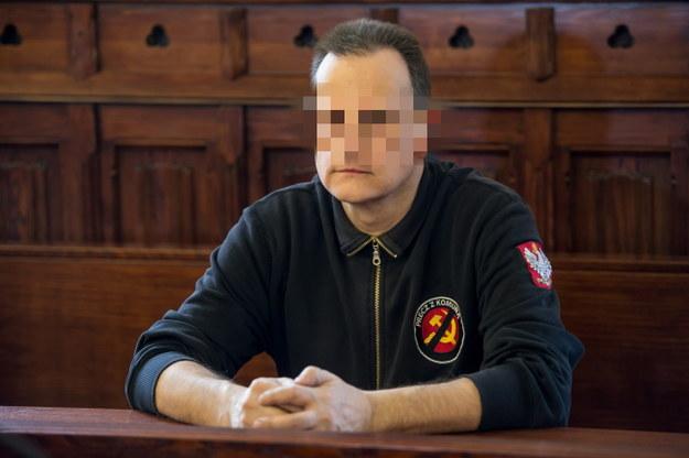 Roman Z. podczas odczytywania wyroku /Maciej Kulczyński /PAP