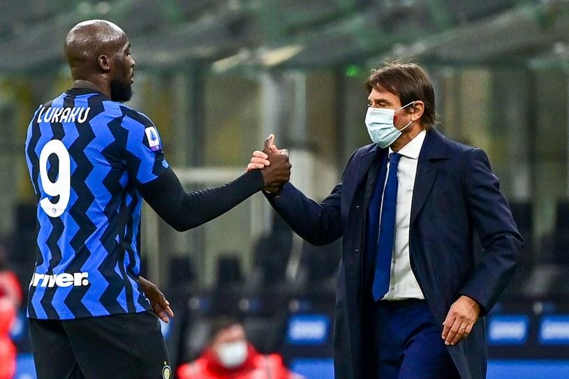 Romelu Lukaku i Antonio Conte, trener Interu /AFP