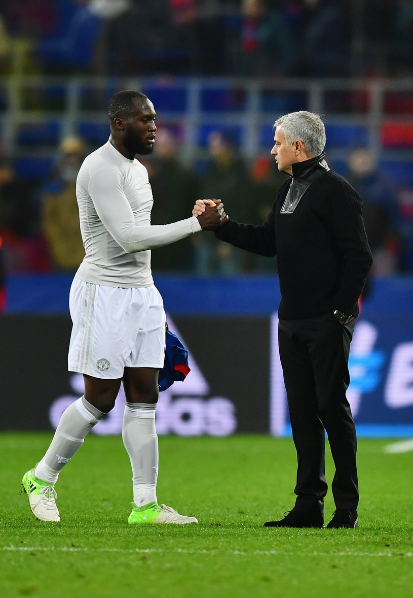 Romelu Lukaku (z lewej) i Jose Mourinho /Dan Mullan /Getty Images