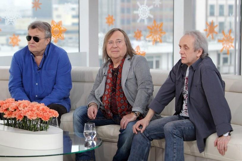 Romuald Lipko (w środku) i Tomasz Zeliszewski (z prawej) reaktywowali Budkę Suflera bez Krzysztofa Cugowskiego (z lewej) /Jan Kucharzyk/Dzień Dobry TVN /East News