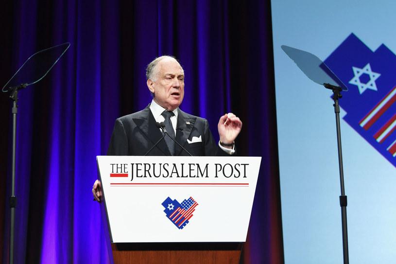 Ronald Lauder, prezes Światowego Kongresu Żydów /Dave Kotinsky / GETTY IMAGES NORTH AMERICA /AFP