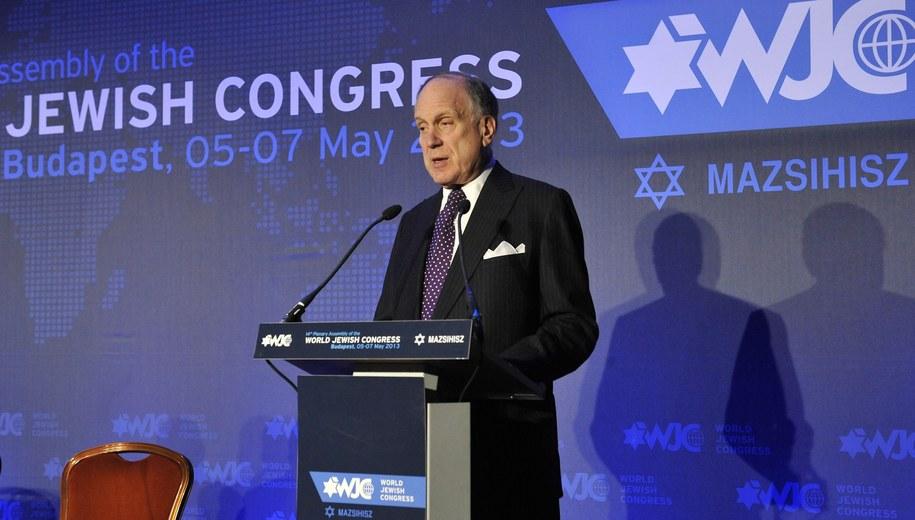 Ronald S. Lauder, prezes Światowego Kongresu Żydów. /LAJOS SOOS  /PAP/EPA