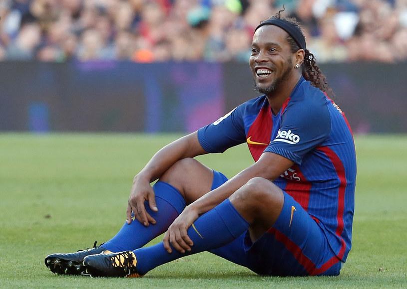 Ronaldinho w barwach Barcelony /AFP
