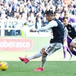 Ronaldo dwukrotnie pokonał Drągowskiego. Juventus lepszy od Fiorentiny