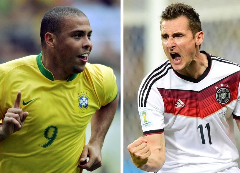 Ronaldo i Miroslav Klose - najskuteczniejsi strzelcy w historii MŚ /AFP
