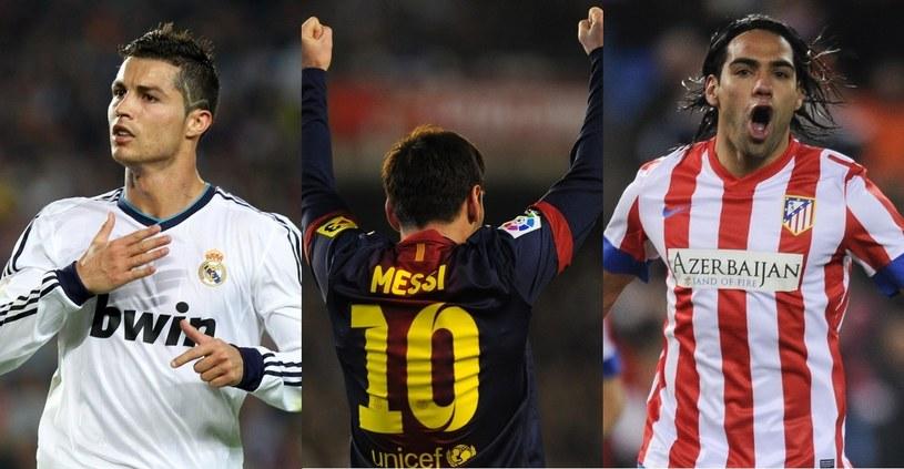 Ronaldo, Messi i Falcao - czołówka najlepszych piłkarzy świata, Fot. kompilacja zdjęć AFP /INTERIA.PL
