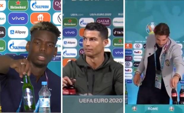 Ronaldo odsunął butelki Coca-Coli, Pogba piwo. UEFA upomina piłkarzy