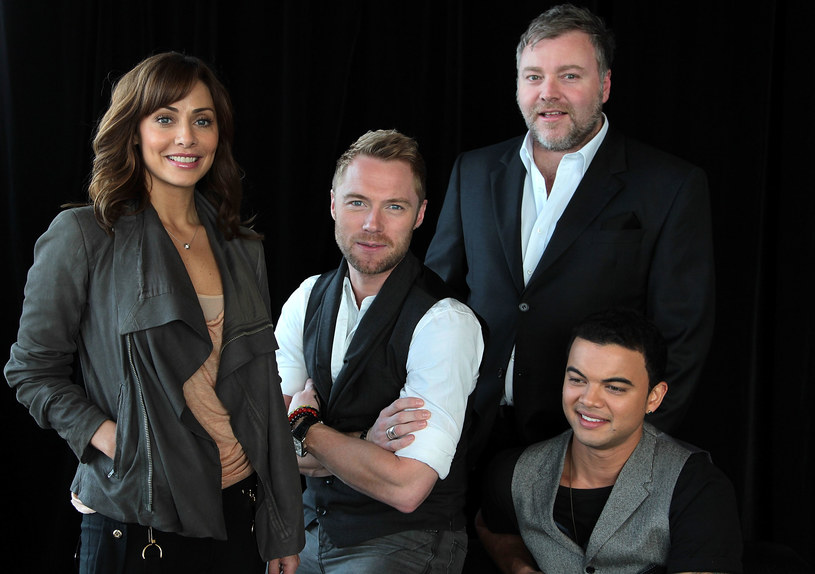 "Ronan Keating z jurorami australijskiej ""X Factor"" w 2010 r. /fot. Mike Flokis /Getty Images"
