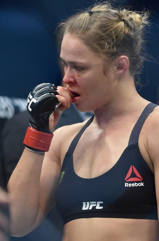 Ronda Rousey po walce z Holly Holm /AFP