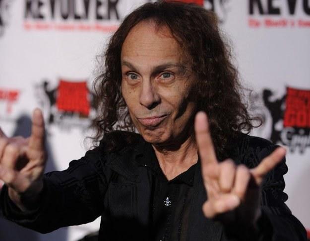 "Ronnie James Dio i ""rogi szatana"" fot. Frazer Harrison /Getty Images/Flash Press Media"