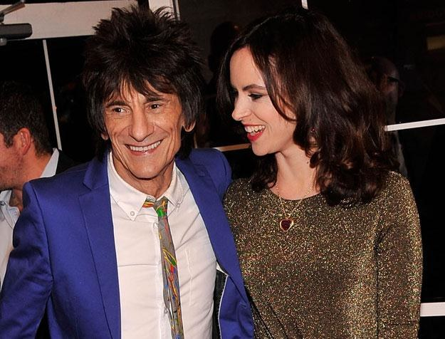 Ronnie Wood i Sally Humphreys chcą mieć dziecko fot. Stephen Lovekin /Getty Images/Flash Press Media