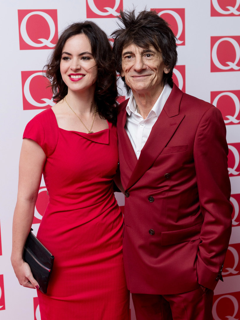 Ronnie Wood z żoną /Ian Gavan /Getty Images