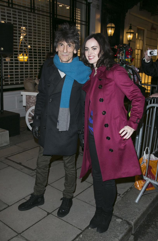 Ronnie Wood z żoną /John Phillips    /Getty Images