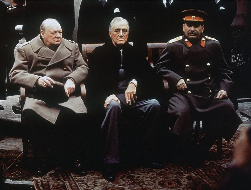 Roosevelt i Stalin zmarginalizowali Wielką Brytanię na konferencjach Wielkiej Trójki /Getty Images/Flash Press Media