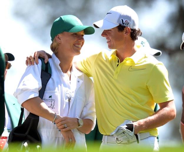 Rory McIlroy i Caroline Wozniacki /AFP